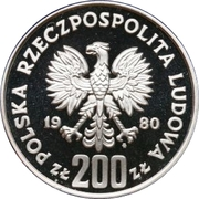 200 Złotych (XIII Winter Olympics; without torch) -  obverse