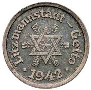 10 Pfennig Lodz Ghetto 1st emission – obverse