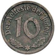 10 Pfennig Lodz Ghetto 1st emission – reverse