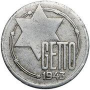 20 Mark (Jewish Ghetto Coinage Al) – obverse