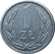 1 Złoty (small type) -  reverse
