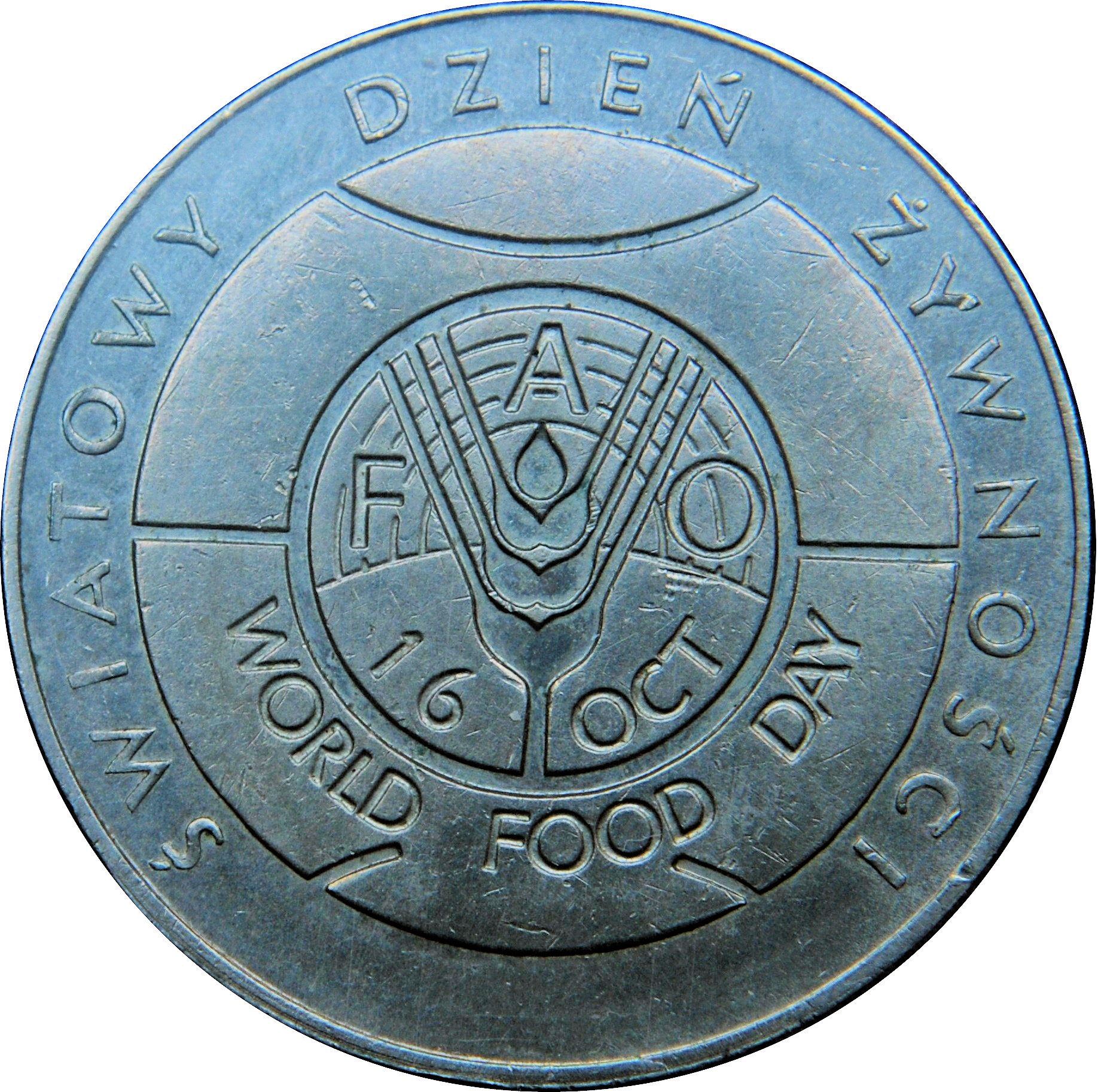 Poland 50 Zlotych Zl 1981 FAO Food for All Commemorative coin UNC
