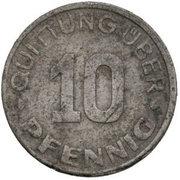 10 Pfennig Lodz Ghetto 2nd emission – reverse