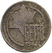 5 Mark (Jewish Ghetto Coinage Al-Mg) – obverse