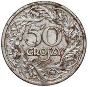 50 Groszy (Iron; Trial Strike 50 far from leaves German Occupation WW II) – reverse