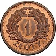 1 Złoty (Ears; Trial Strike B) – reverse