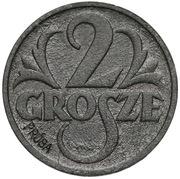 2 Grosze (German Occupation WW II; Trial Strike) – reverse