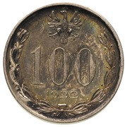 100 Marek (Without nominal; Trial Strike Ag) – obverse