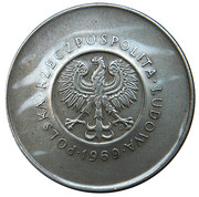 10 Złotych (25 Years of People's Republic of Poland) -  obverse