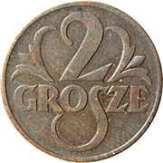 2 Grosze – reverse
