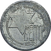 10 Mark (Jewish Ghetto Coinage Al) – obverse