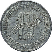 10 Mark (Jewish Ghetto Coinage Al) – reverse
