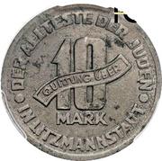 10 Mark (Jewish Ghetto Coinage Al-Mg) – reverse