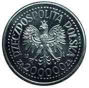 200 000 Złotych (Discovery of America; Trial Strike) -  obverse
