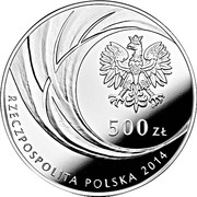 500 Złotych (Canonisation of John Paul II, 27 IV 2014) – obverse