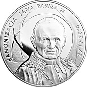 500 Złotych (Canonisation of John Paul II, 27 IV 2014) – reverse