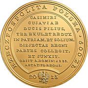 500 Złotych (Vladislaus Locticus Seu Cubitalis) – obverse