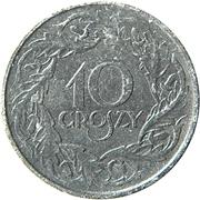 10 Groszy (German Occupation WW II) – reverse