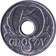 5 Groszy (German Occupation WW II) – reverse