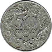 50 Groszy (Iron; German Occupation WW II) – reverse