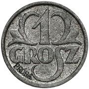 1 Grosz (German Occupation WW II; Trial Strike) – reverse