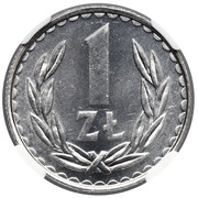 1 Złoty (large type; small date) -  reverse