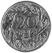 20 Groszy (Trial Strike Fe; German Occupation WW II) – reverse