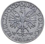 50 Groszy (Al; Trial Strike 50 far from leaves 2nd eagle type German Occupation WW II) – obverse