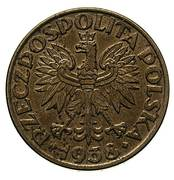 50 Groszy (CuNi; Trial Strike 50 without leaves German Occupation WW II) – obverse