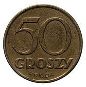 50 Groszy (CuNi; Trial Strike 50 without leaves German Occupation WW II) – reverse