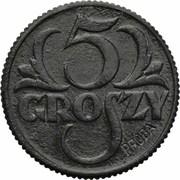 5 Groszy (German Occupation WW II; Trial Strike with Próba) – reverse