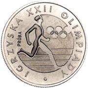 20 Złotych (1980 Summer Olympics; Trial Strike) -  obverse