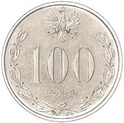 100 Marek (Without nominal; Trial Strike Sn) – obverse