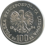 100 Złotych (40 Years of Peoples Republic of Poland) -  obverse