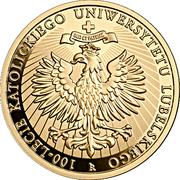 200 Złotych (100th Anniversary of the Catholic University of Lublin) – reverse