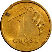 1 Grosz (non-magnetic) -  reverse