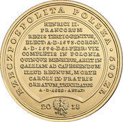 500 Złotych (Henricus Valesius) – obverse