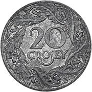 20 Groszy (German Occupation WW II) – reverse
