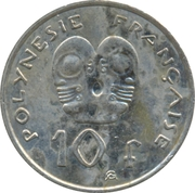 10 Francs (non-magnetic) – reverse
