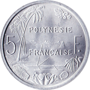 5 Francs (without IEOM) – reverse