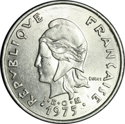20 Francs (with IEOM) – obverse