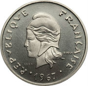 20 Francs (Trial strike) – obverse