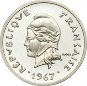 20 Francs (Silver Piedfort) – obverse