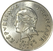 50 Francs (with IEOM) – obverse