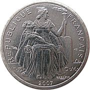 1 Franc (with IEOM) – obverse