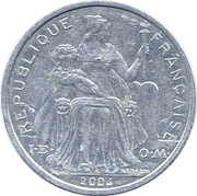2 Francs (with IEOM) – obverse