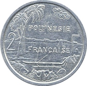 2 Francs (with IEOM) -  reverse