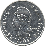 10 Francs (with IEOM) – obverse