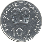 10 Francs (with IEOM) – reverse
