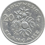 20 Francs (without IEOM) – reverse
